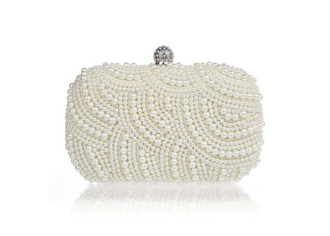 MARTINA Pearl Clutch Bag