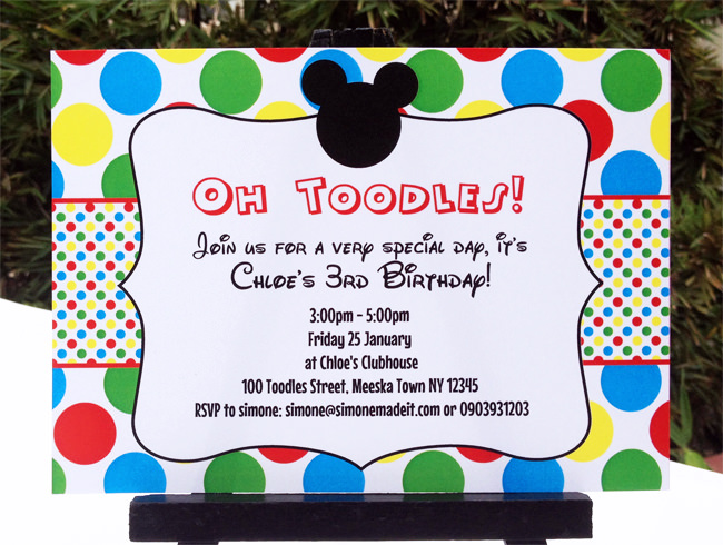mickey mouse clubhouse party invitations printable - Goal