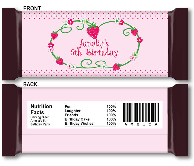 baby shower chocolate wrappers template