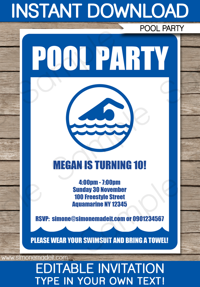 teenage party invitation templates