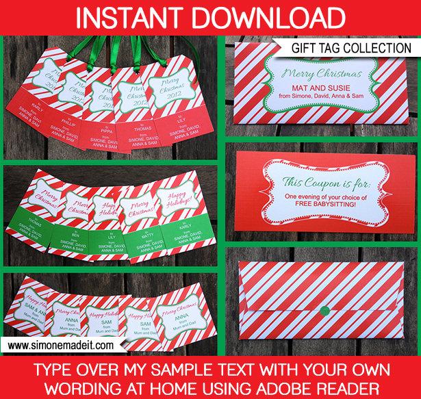 Free Christmas Printable Gift Tags Template