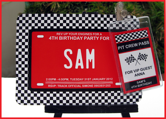 Race Car Party Sam39s 4th Birthday