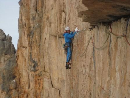 Simon Gietl im Quergang der Route Wüstenblume