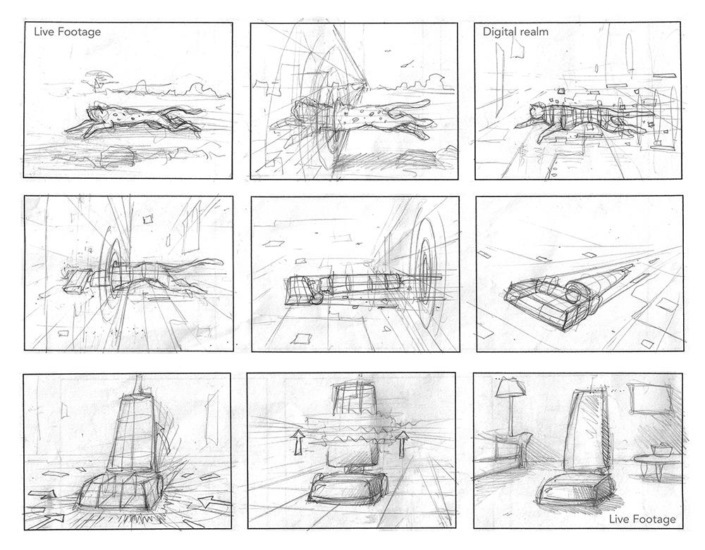 Storyboards - SIMON KONOu0027s art portfolio - commercial storyboards