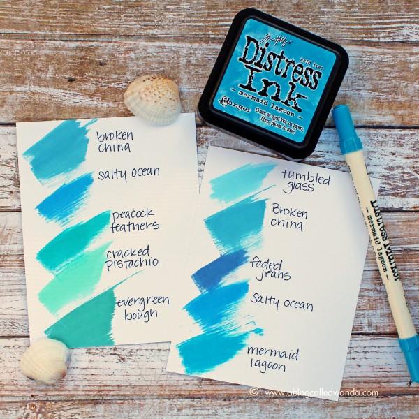 Tim Holtz Distress Ink Color Pop Mermaid Lagoon! - Simon Says Stamp