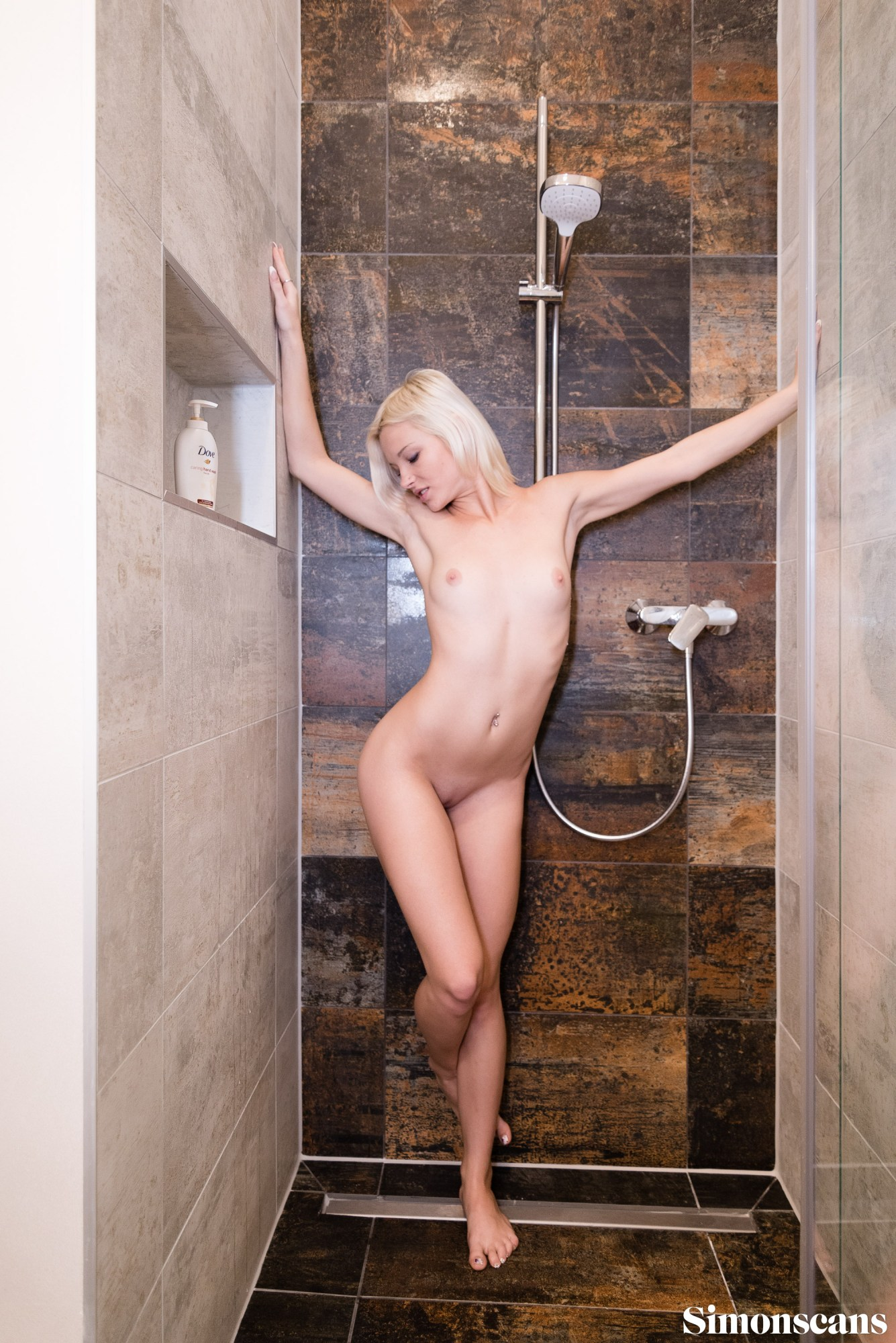Azazie in the shower