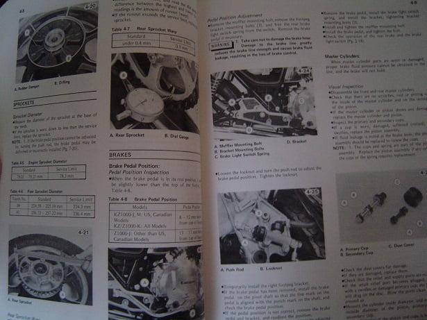 KAWASAKI KZ1000 KZ1100 1981 service manual KZ 1000 KZ 1100 Simons