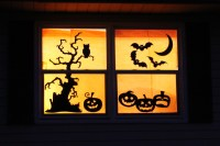 Halloween Window Decorations - The Window Seat