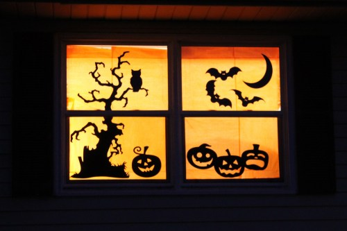 Medium Of Halloween Window Decorations
