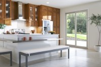 Simonton Patio Door in modern kitchen