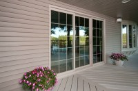 Exterior view of Simonton ProFinish Sliding Patio Door