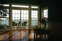 Simonton Sliding Patio Doors - Interior View Overlooking Water