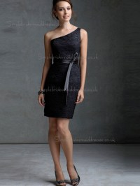 Cheap Amazing Mini Lace Black Sash Bridesmaid Dresses ...