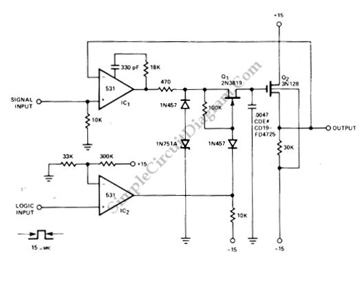 jfet sample and hold circuit
