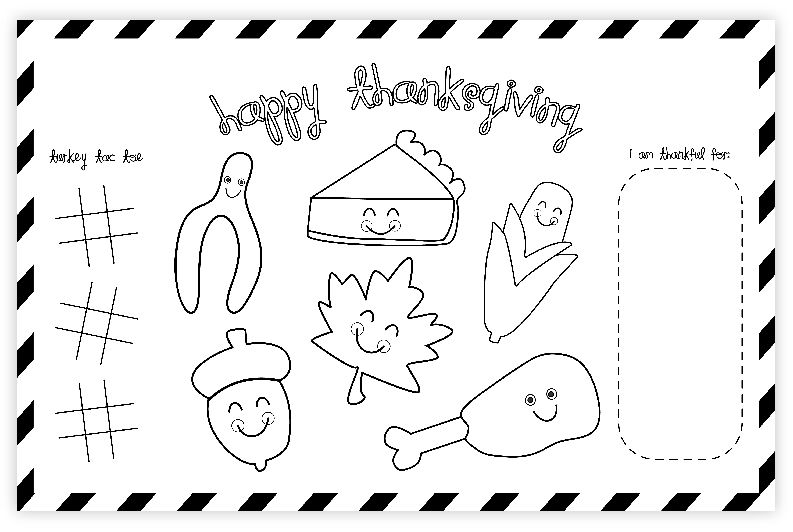 Free Thanksgiving Printable Placemat