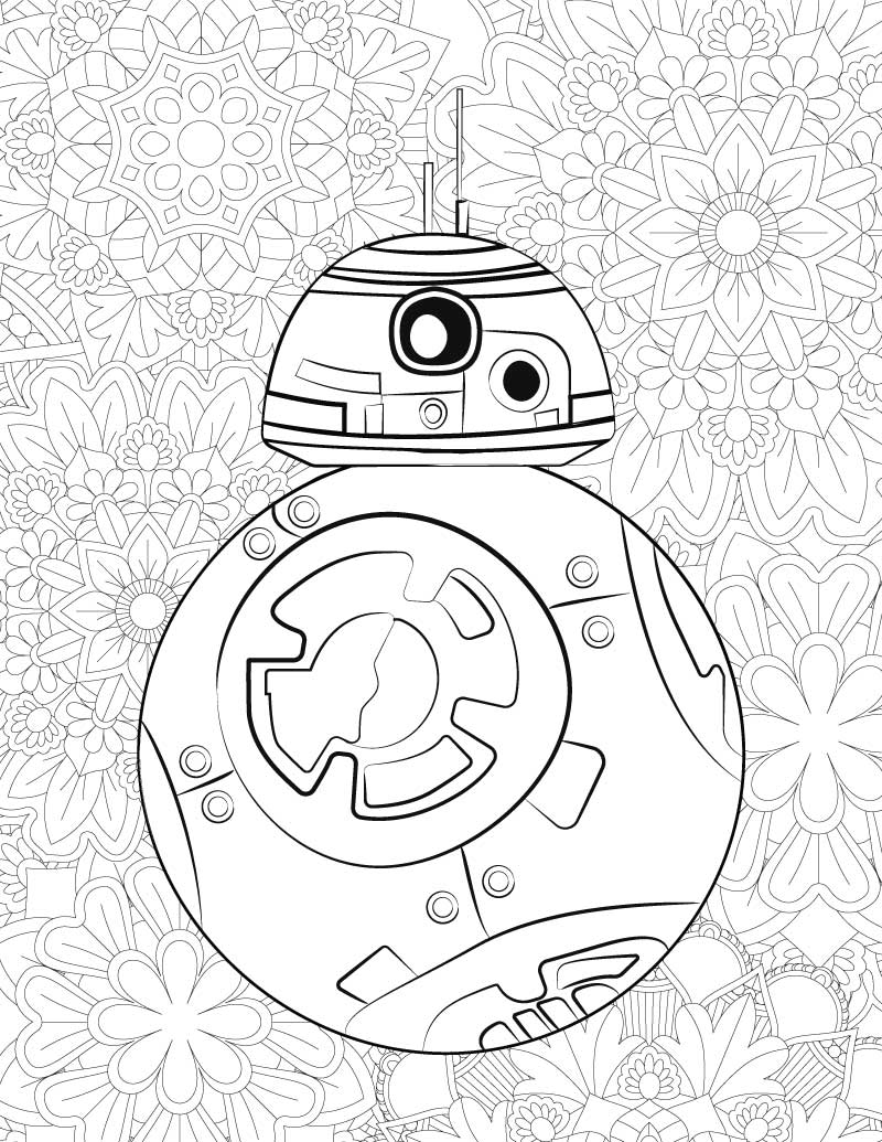 Coloring pages star wars bb8 - Download