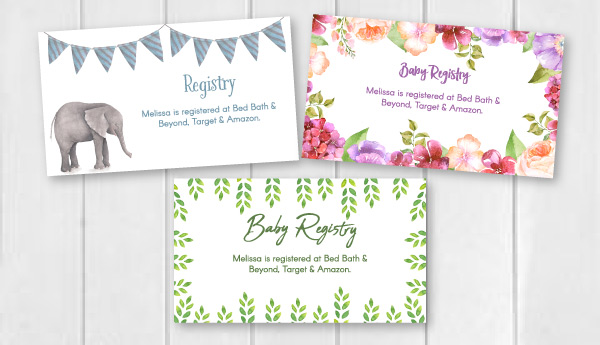 Editable  Free Printable Baby Registry Cards To Complement Your - Printable Baby Shower Invite