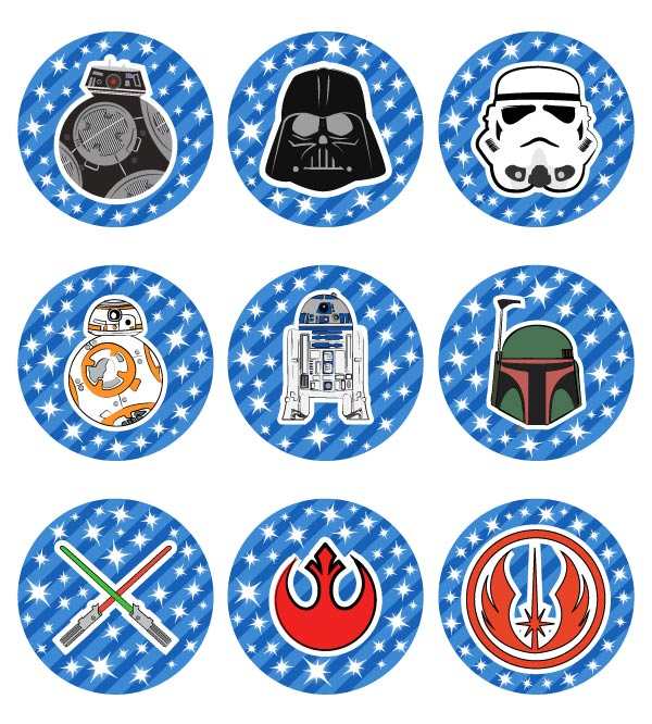 FREE Printable Star Wars Cupcake Toppers For Boys  Girls