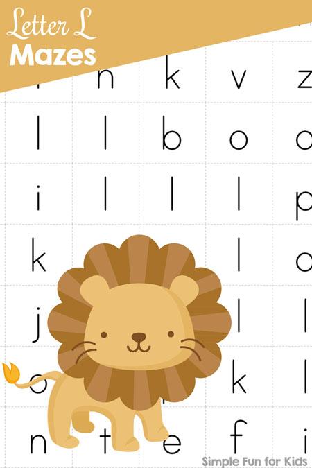 Letter L Maze - Simple Fun for Kids