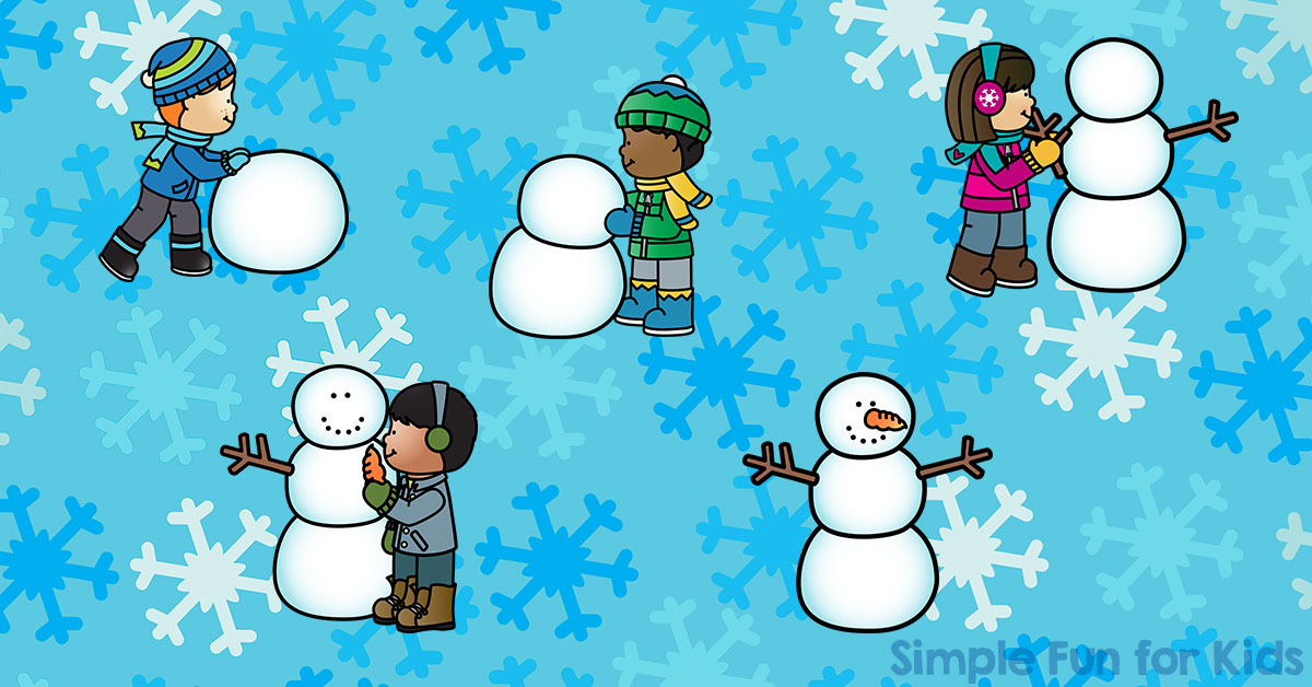 Do You Want to Build a Snowman? Sequencing Printable - Simple Fun