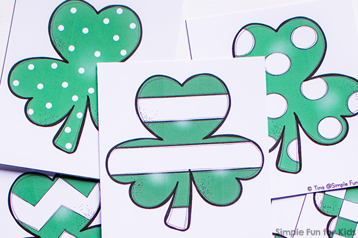 Shamrock Matching Game for Toddlers - Simple Fun for Kids