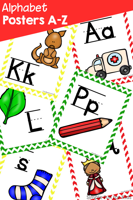 Alphabet Posters A-Z - Simple Fun for Kids