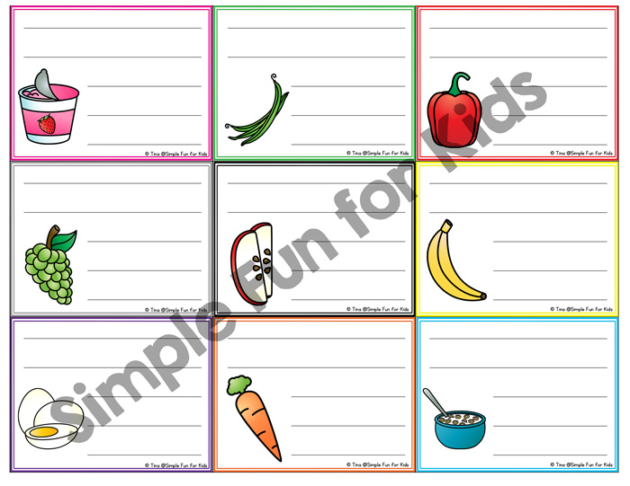 Blank Lunch Box Notes - Simple Fun for Kids