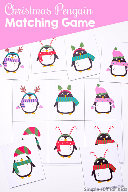 Christmas Penguin Matching Game for Toddlers - Simple Fun for Kids