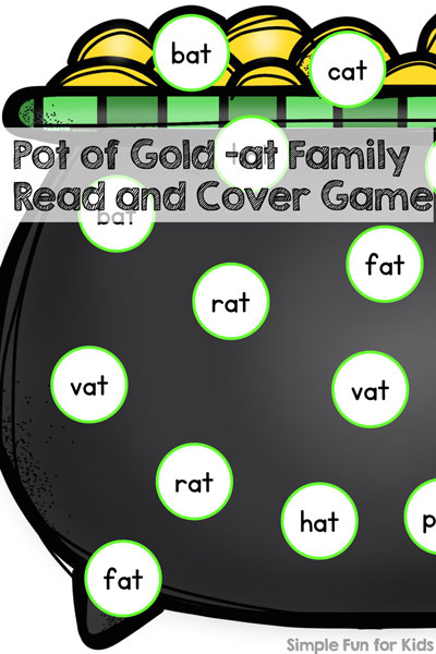Pot of Gold -at Family Read and Cover Game - Simple Fun for Kids