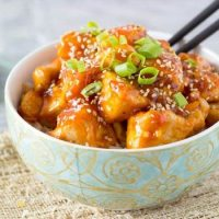 Skinny Orange Sesame Chicken