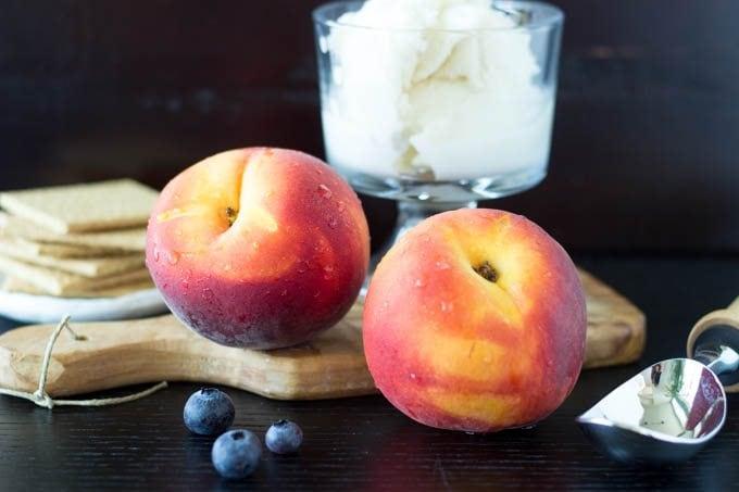 peaches and blueberries yogurt