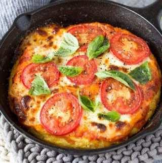 Skillet Margarita Polenta Pizza