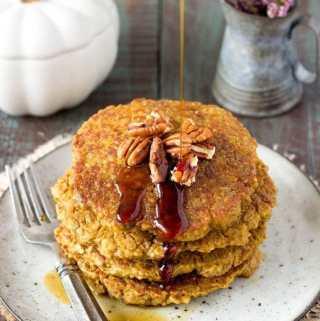 Pumpkin Spice Quinoa Pancakes