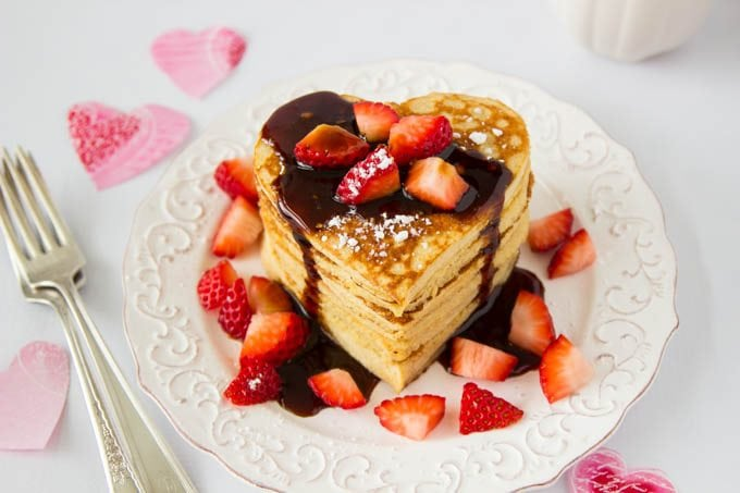 High Protein Oatmeal Pancakes Heart Shaped Simple