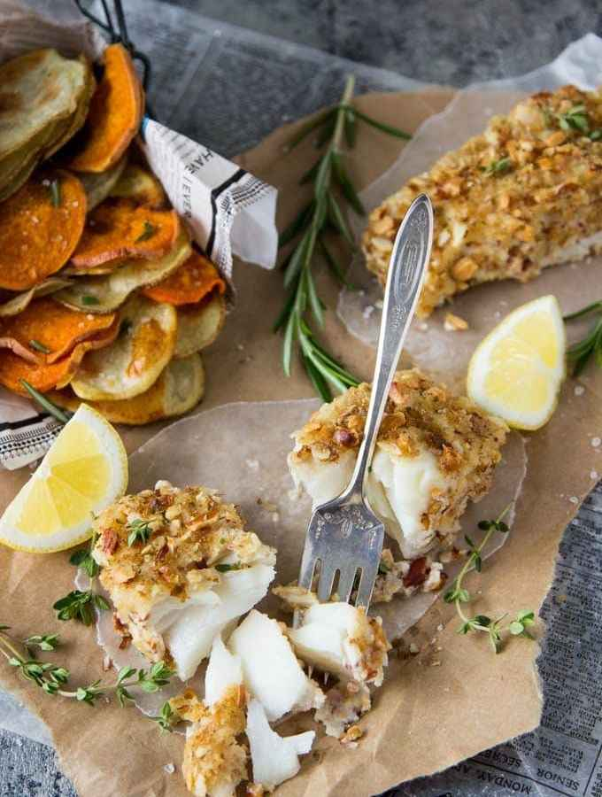 Healthy Oven Baked Fish & Chips