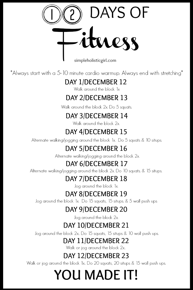 Stay Fit, Slim & Trim with the 12 Days of Fitness