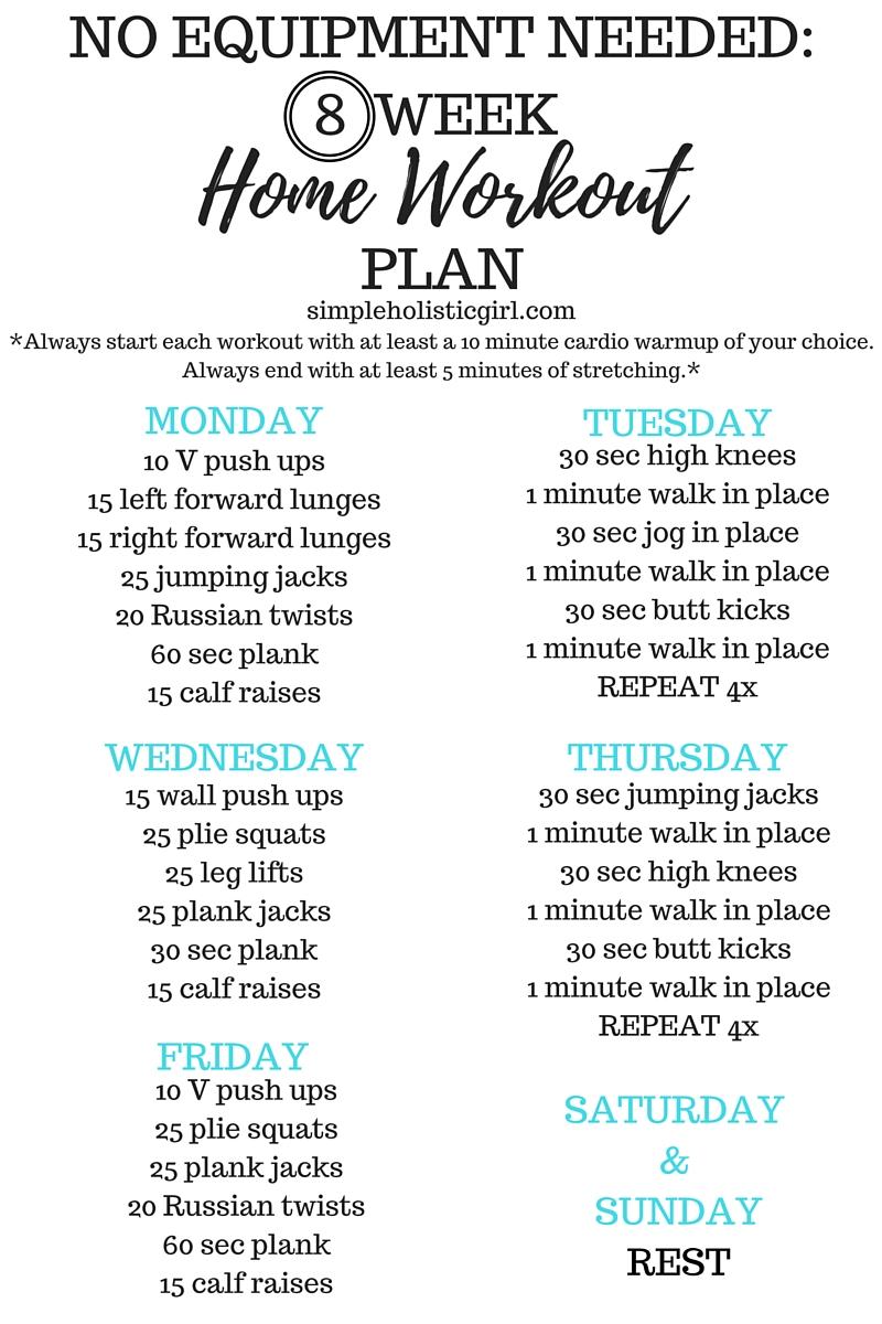 Week home workout plan
