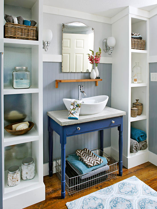 decorating the bathroom on a budget