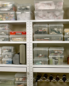 an effortless way to organize your storage room