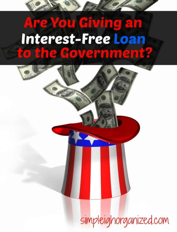 interest free loan to the government