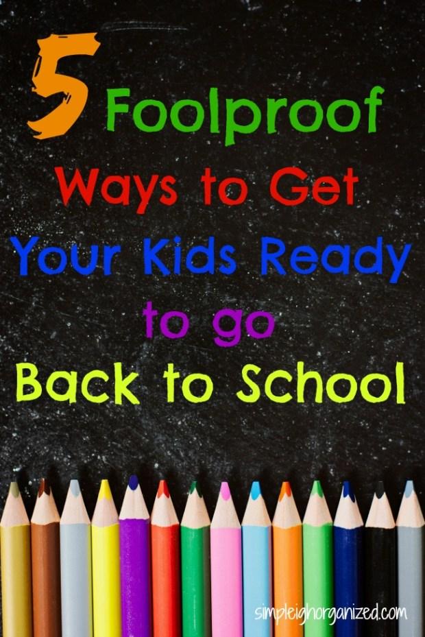5 back-to-school organizing tips