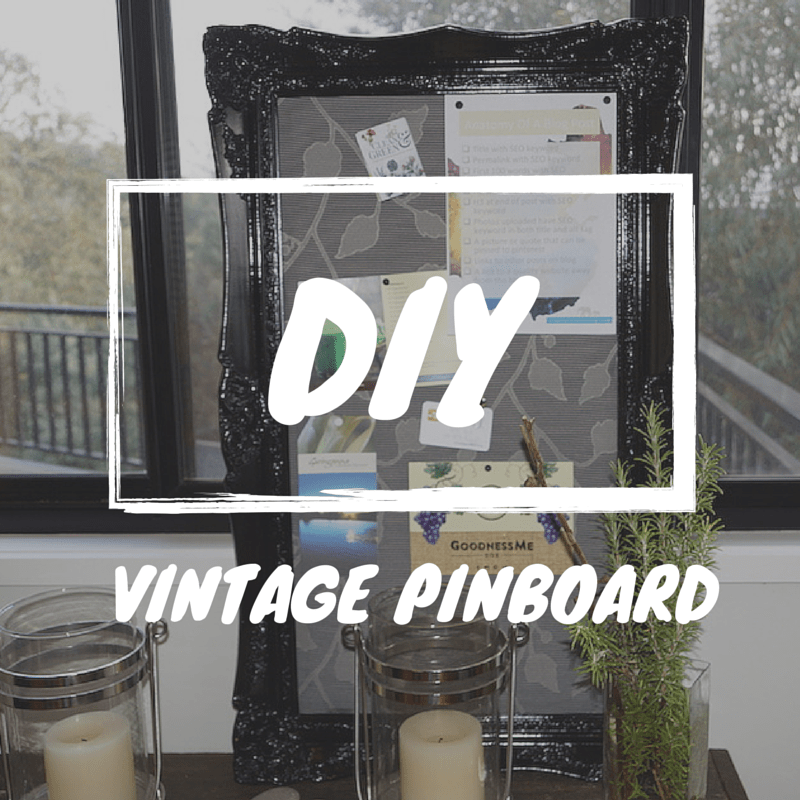 DIY Project Vintage Framed Pinboard
