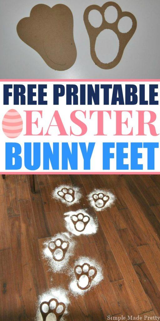 Free Printable Easter Bunny Feet Template - Simple Made Pretty