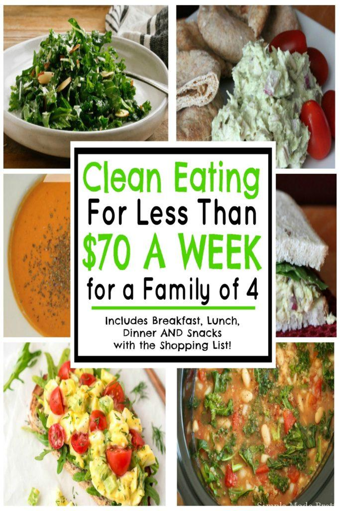 Clean Eating for Less than $70 a Week for a Family of 4 (April 2019)