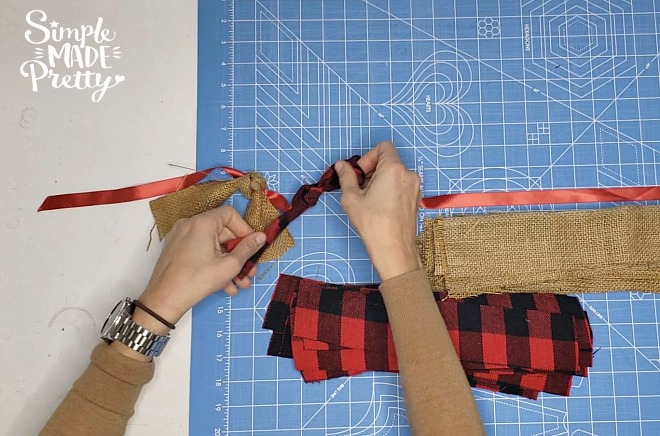 Diy Burlap Fabric And Buffalo Plaid Garland Simple Made
