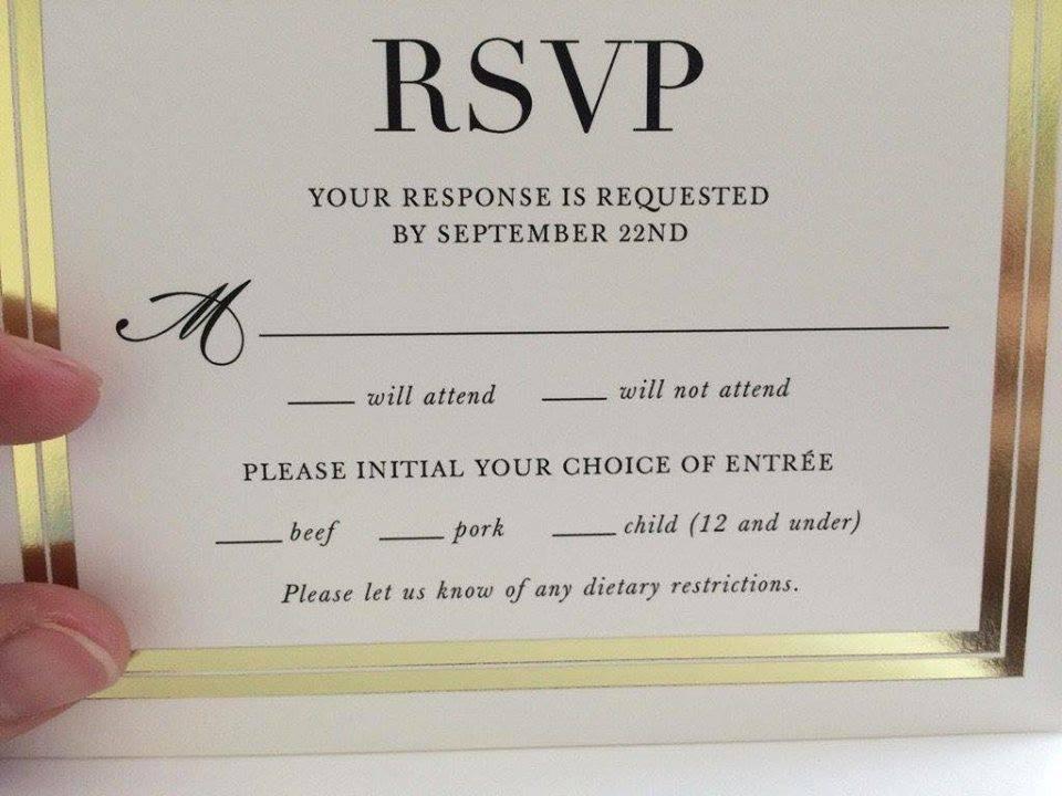 Hilarious Wedding RSVP Card Fail Is Going Viral - Simplemost