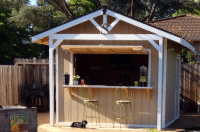 How To Make A Bar Shed From A Backyard Garden Shed ...