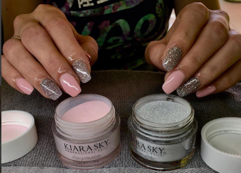 Dip Powder Nails Fall Colors Houston Hospitality