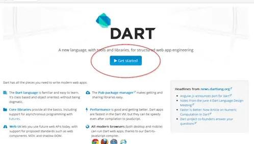 Dart Language Homepage