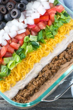 Small Of Layered Mexican Dip